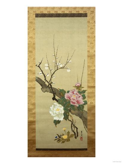 Autumn Flowers-Okada Beisanjin-Giclee Print