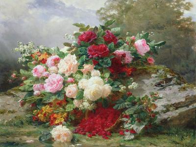 Autumn Flowers-Jean Baptiste Claude Robie-Giclee Print