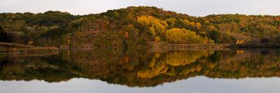 Autumn foliage reflected in a small lake in central Wisconsin, USA--Photographic Print