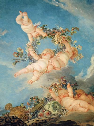 Autumn, from a Series of the Four Seasons in the Salle Du Conseil-Francois Boucher-Giclee Print