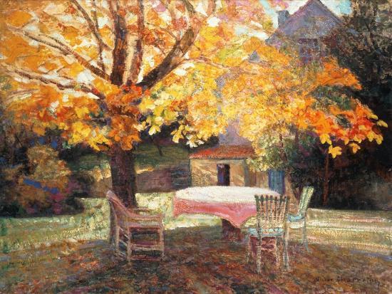 Autumn Garden-Victor Charreton-Giclee Print