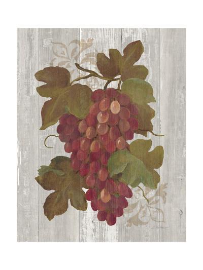 Autumn Grapes I on Wood-Silvia Vassileva-Art Print
