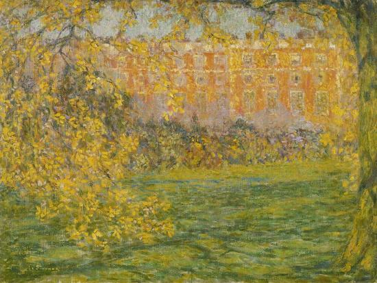 Autumn, Hampton Court; Automne, Hampton Court, 1908-Henri Eugene Augustin Le Sidaner-Giclee Print