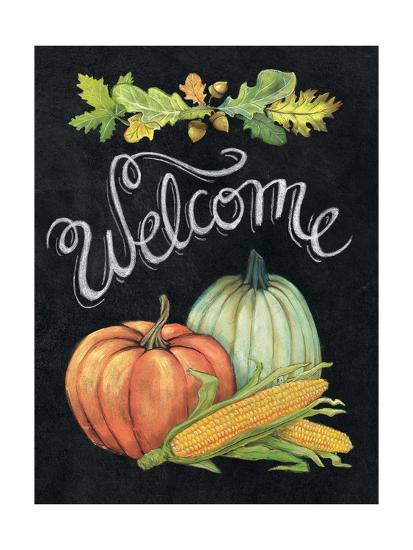 Autumn Harvest II Welcome-Mary Urban-Art Print