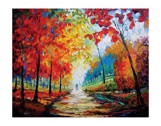 Autumn Impressions-Maya Green-Premium Giclee Print