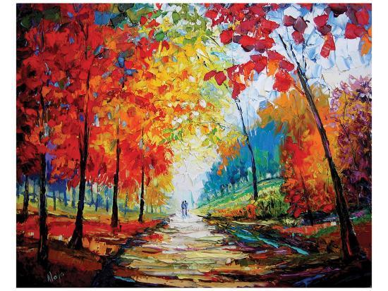 Autumn Impressions-Maya Green-Art Print