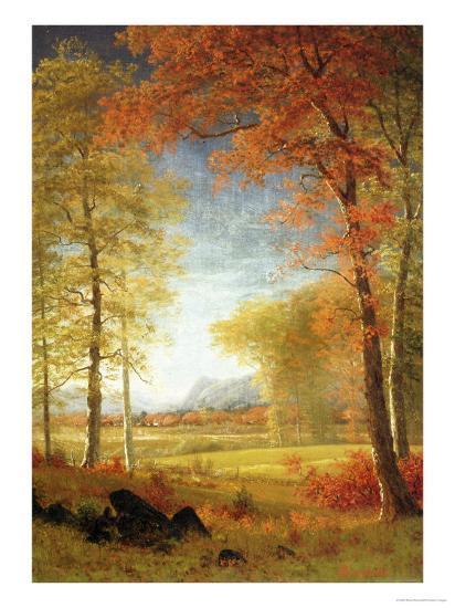 Autumn in America, Oneida County, New York-Albert Bierstadt-Premium Giclee Print