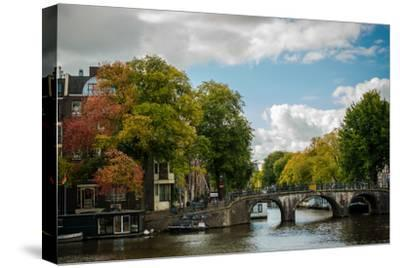 Autumn in Amsterdam-Erin Berzel-Stretched Canvas Print