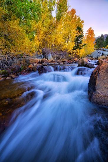 Autumn in Bishop Creek, Mountains, Eastern Sierras-Vincent James-Photographic Print