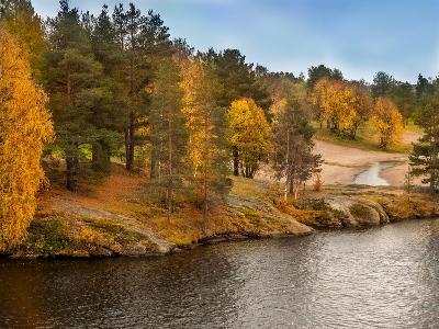 Autumn in Lapland-Roman Milert-Photographic Print