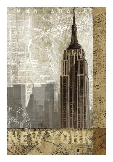 Autumn in New York-Keith Mallett-Art Print