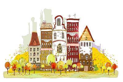 Autumn in the City-IR Stone-Art Print
