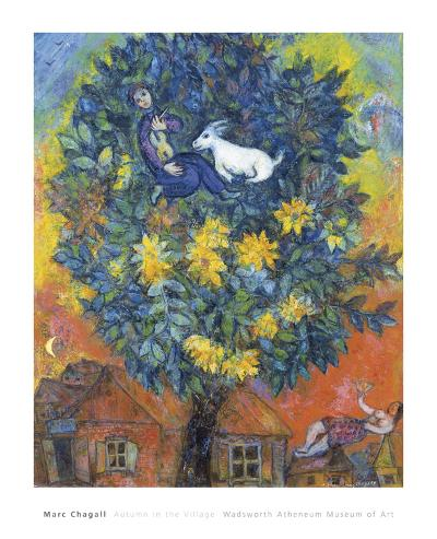 Autumn in the Village-Marc Chagall-Art Print