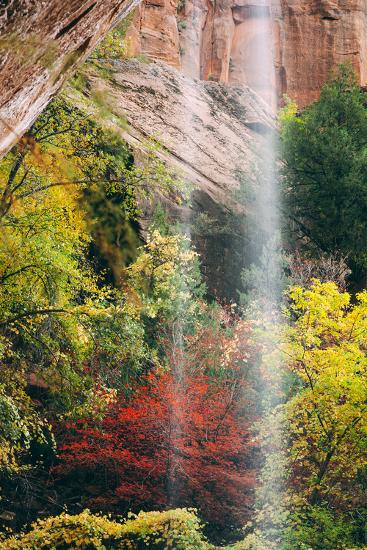Autumn in Zion Canyon, Southwest, Utah, National Parks-Vincent James-Photographic Print