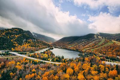 Autumn Lake Scene, White Mountains, New Hampshire-Vincent James-Photographic Print