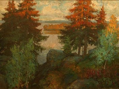 Autumn Landscape, 1920-Konstantin Ivanovich Gorbatov-Giclee Print