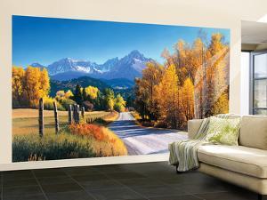 Autumn Landscape Huge Mural Art Print Poster Large