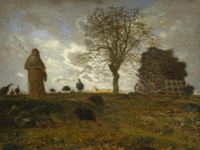 Autumn Landscape with a Flock of Turkeys, 1872-73-Jean-Francois Millet-Giclee Print