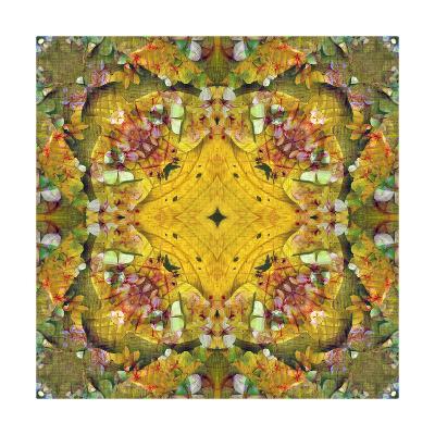 Autumn Leaf Ornament 33 Square-Alaya Gadeh-Art Print