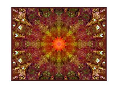Autumn Leaf Ornament-Alaya Gadeh-Art Print