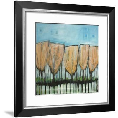 Autumn Leaves Snow Dusting-Tim Nyberg-Framed Giclee Print