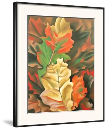 Autumn Leaves-Georgia O'Keeffe-Framed Art Print