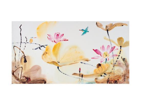 Autumn Lotus-Chi Wen-Giclee Print