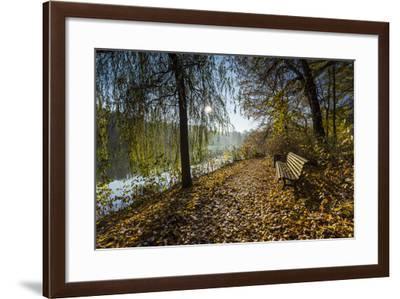 Autumn Mood on a River-Falk Hermann-Framed Photographic Print