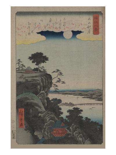 Autumn Moon at Ishiyama (Ishiyama No Shugestu)-Ando Hiroshige-Art Print