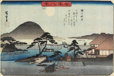 Autumn Moon at Seto, C. 1835-1836-Utagawa Hiroshige-Giclee Print