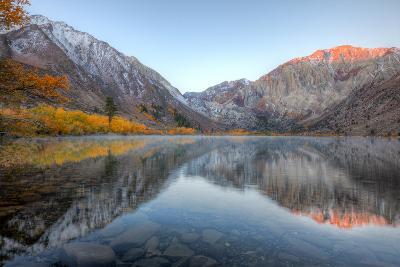 Autumn Morning, First Light, Convict Lake, Sierra Nevada-Vincent James-Photographic Print
