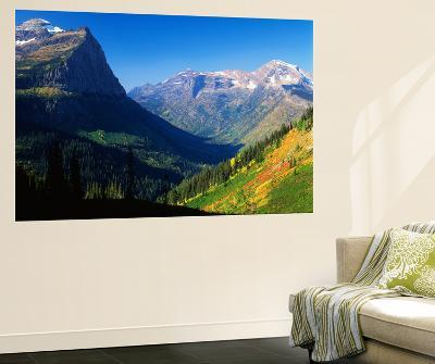 Autumn Near Logan Pass, Glacier National Park, Montana, USA-Adam Jones-Giant Art Print