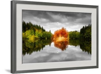 Autumn on a Mirror-Philippe Sainte-Laudy-Framed Photographic Print