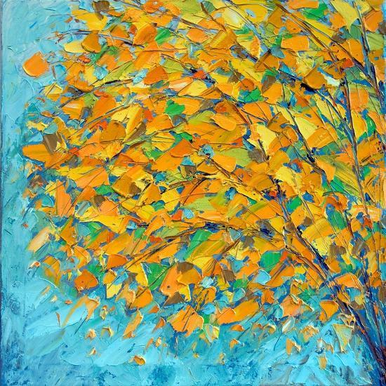 Autumn on Teal-Ann Marie Coolick-Premium Giclee Print