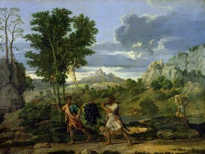 Autumn, or the Bunch of Grapes Taken from the Promised Land, 1660-64-Nicolas Poussin-Giclee Print