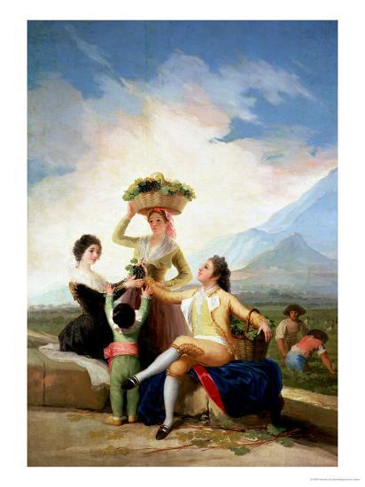 Autumn, or the Grape Harvest, 1786-87-Francisco de Goya-Giclee Print