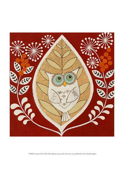 Autumn Owl-Helen Rhodes-Art Print