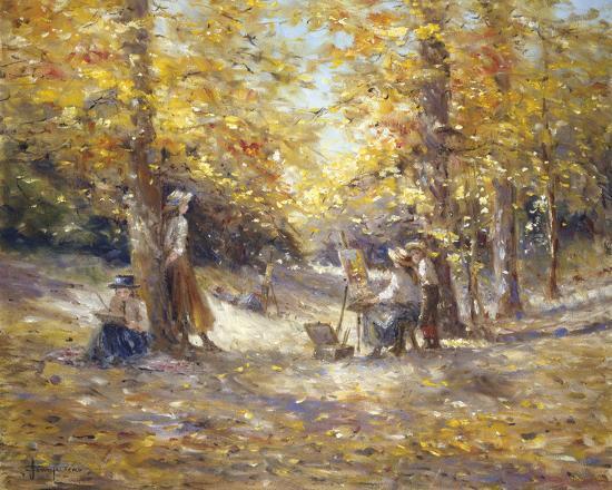 Autumn Paint Out-Judy Talacko-Giclee Print
