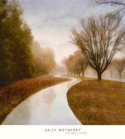 Autumn Path-Sally Wetherby-Art Print