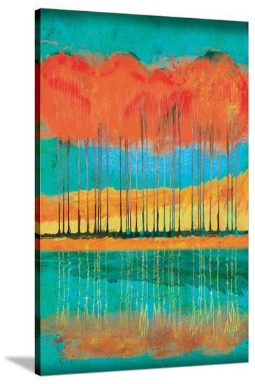 Autumn Pond-Toy Jones-Stretched Canvas Print