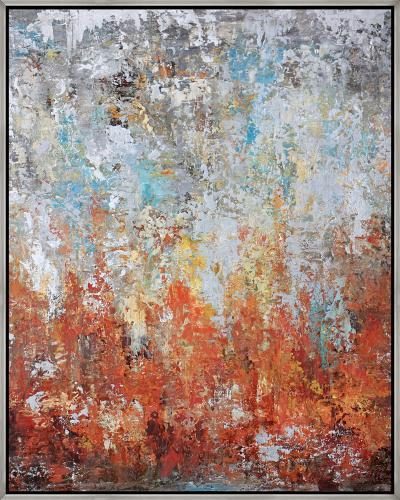 Autumn Rise--Framed Hand Painted Art