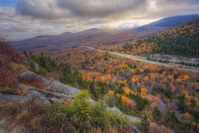 Autumn Road Through the White Mountains, New Hampshire-Vincent James-Photographic Print