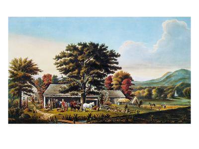Autumn Scene, 1866-Currier & Ives-Giclee Print