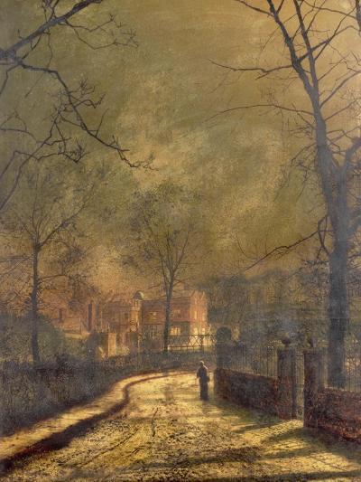 Autumn Scene, Leeds, 1874-John Atkinson Grimshaw-Giclee Print