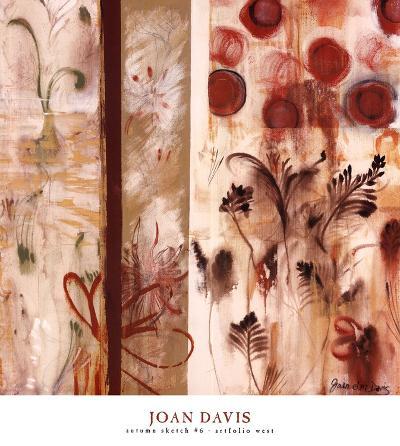 Autumn Sketch #6-Joan Elan Davis-Art Print