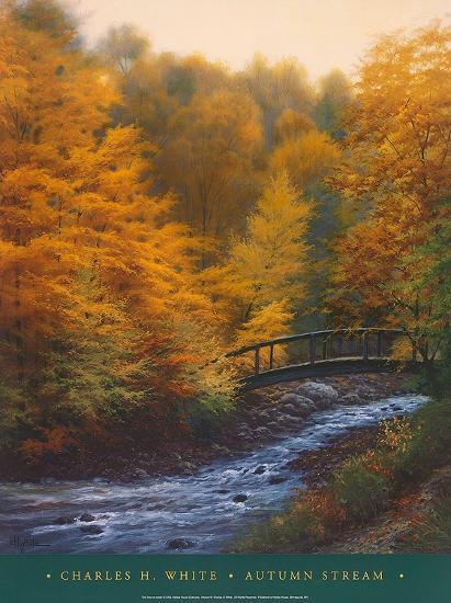 Autumn Stream-Charles White-Art Print
