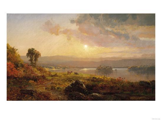 Autumn Sunset, 1876-Jasper Francis Cropsey-Giclee Print