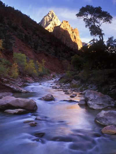 Autumn Sunset in Zion National Park, Utah-Keith Ladzinski-Photographic Print