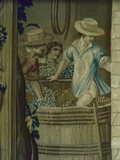 Autumn Tapestry Woven, 16th Century, Detail of Crushing Grapes--Giclee Print
