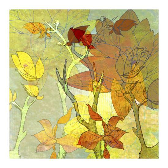 Autumn Textures-Jan Weiss-Art Print
